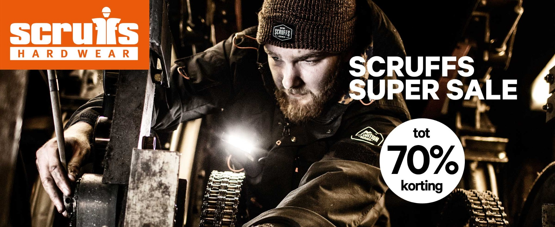SA1NT Works - Monteur met Scruffs kleding